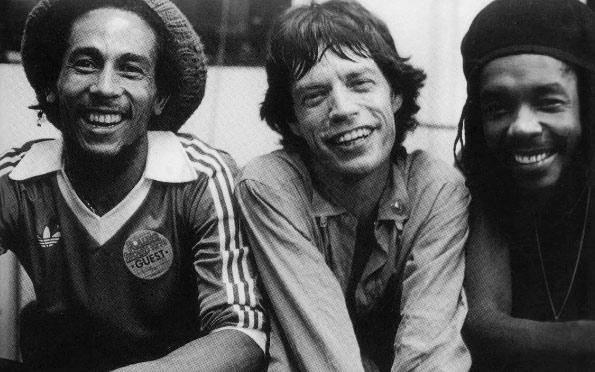 Bob Marley, Mick Jagger & Peter Tosh