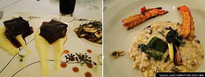 Pratos principais no restaurante Guaiaó