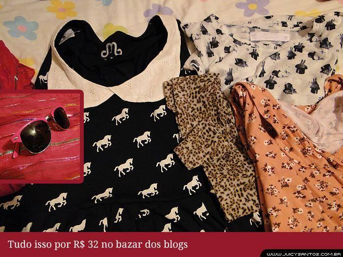 Minhas compras no Bazar dos Blogs