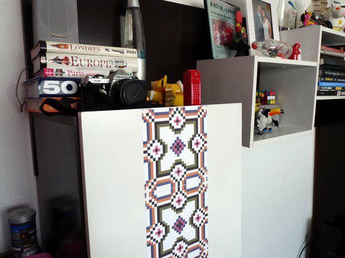 azulejos de tecido adesivo flok