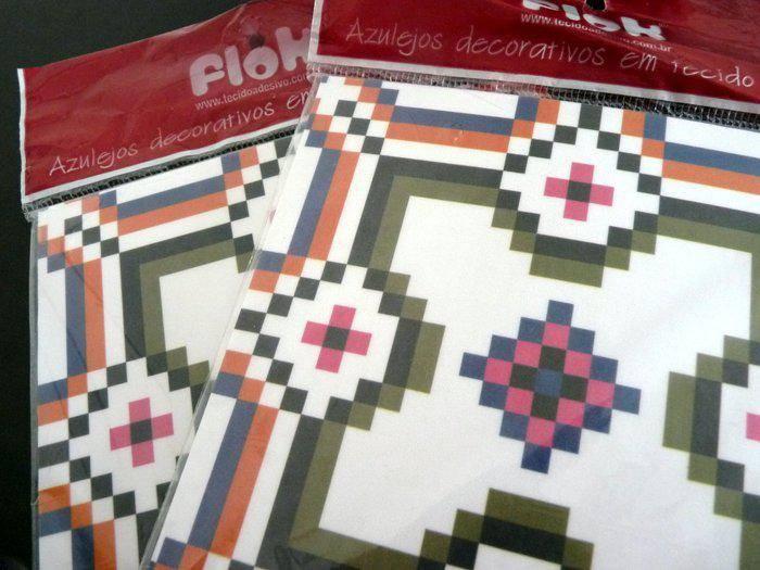 Azulejos adesivos de tecido Flok