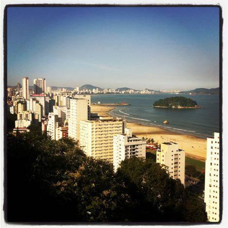 Vista aérea de Santos