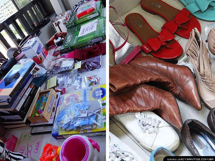Sapatos e acessórios do bazar
