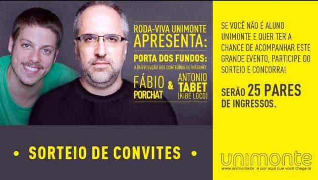 Porta dos Fundos no Roda-Viva Unimonte