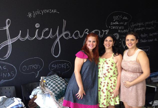 As organizadoras do Juicybazar - Ludmilla, Flávia e Aline