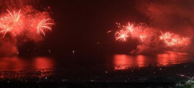 Réveillon 2014 nas praias de Santos