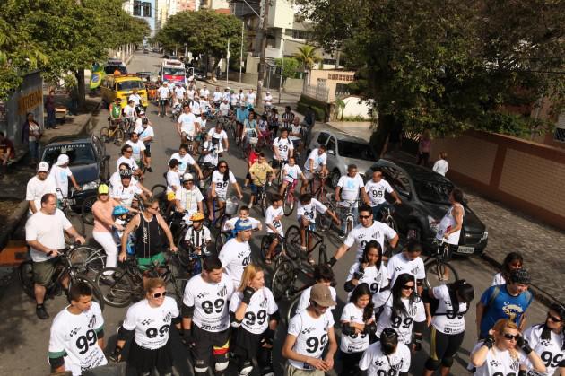 passeio ciclistico em santos
