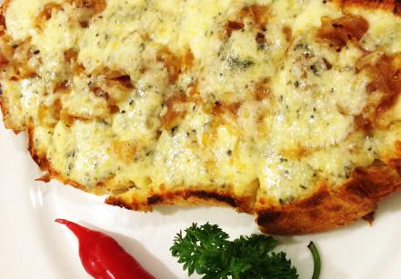 pasta-gialla-brusqueta-gorgonzola