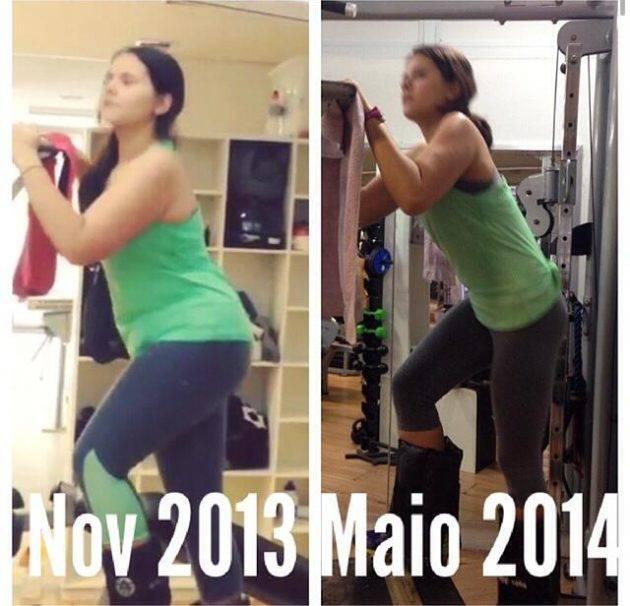 Isabela Vilar antes e depois