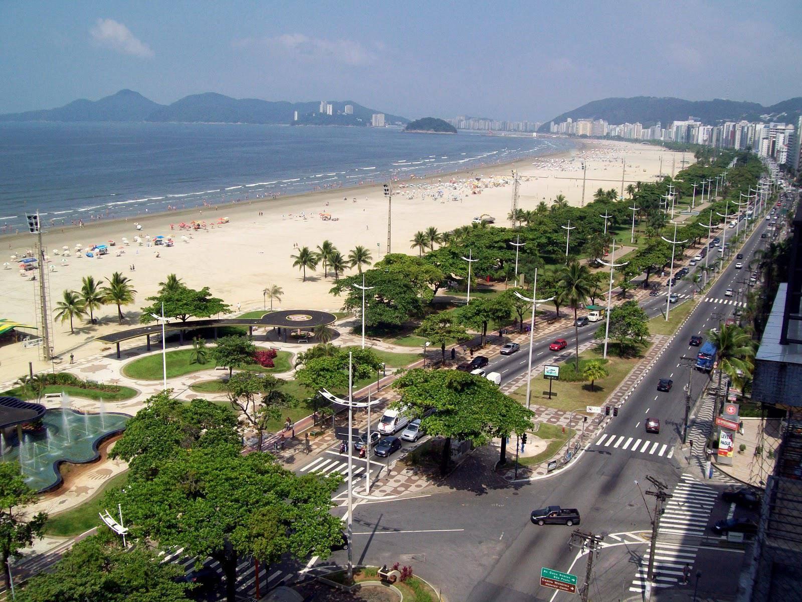 d0a57645f Vamos lá, santista, sem pensar muito, responda: como se chama a avenida da  praia?