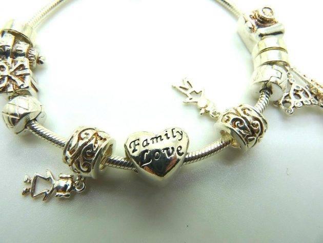 www.juicysantos.com.br - bracelete eternity com berloques de prata da zenith