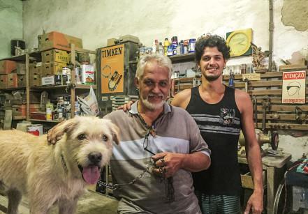 Chinapz, Paulo Ramos e Lucas - os artesãos.