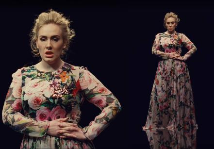 vestido-adele-send-my-love-clipe