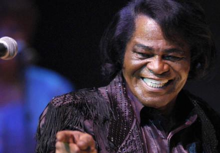 James Brown performs at the Philharmonie in Cologne, Germany in 2003.