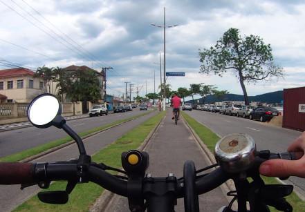 bicicleta em Santos