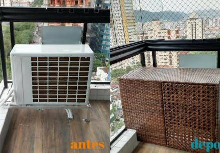 www.juicysantos.com.br - esconder o ar condicionado na varanda