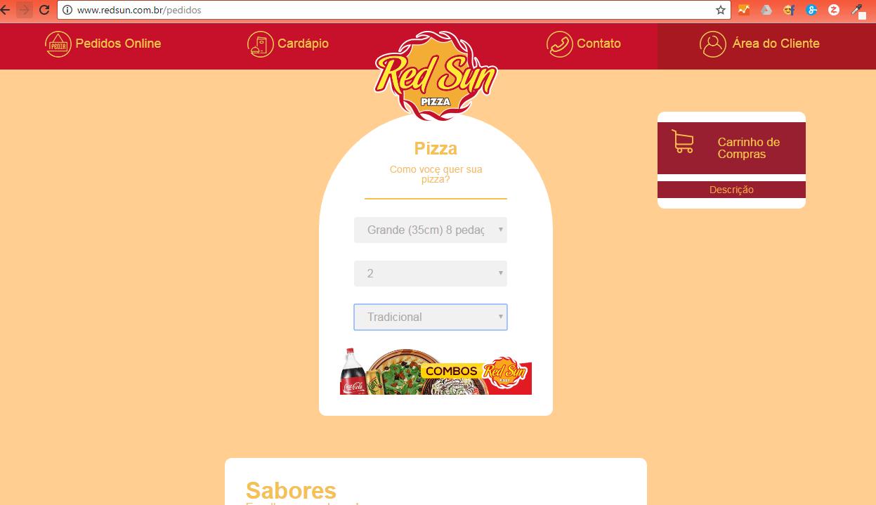www.juicysantos.com.br - site red sun para pedir pizza