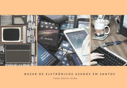 Bazar de eletrônicos usados em Santos