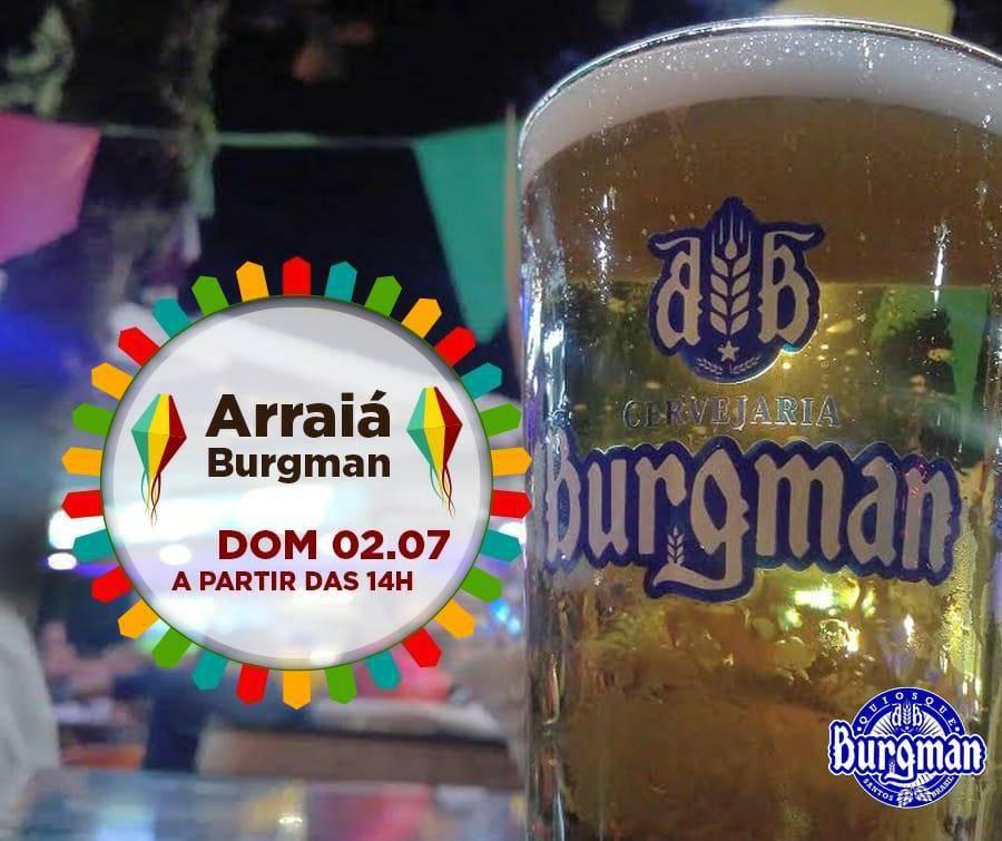 www.juicysantos.com.br - festa junina com cerveja artesanal no quiosque burgman em santos sp