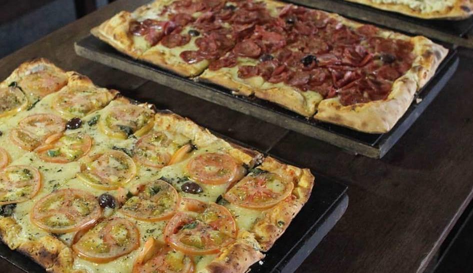 www.juicysantos.com.br - pizzas variadas do menu da graminha pizzaria