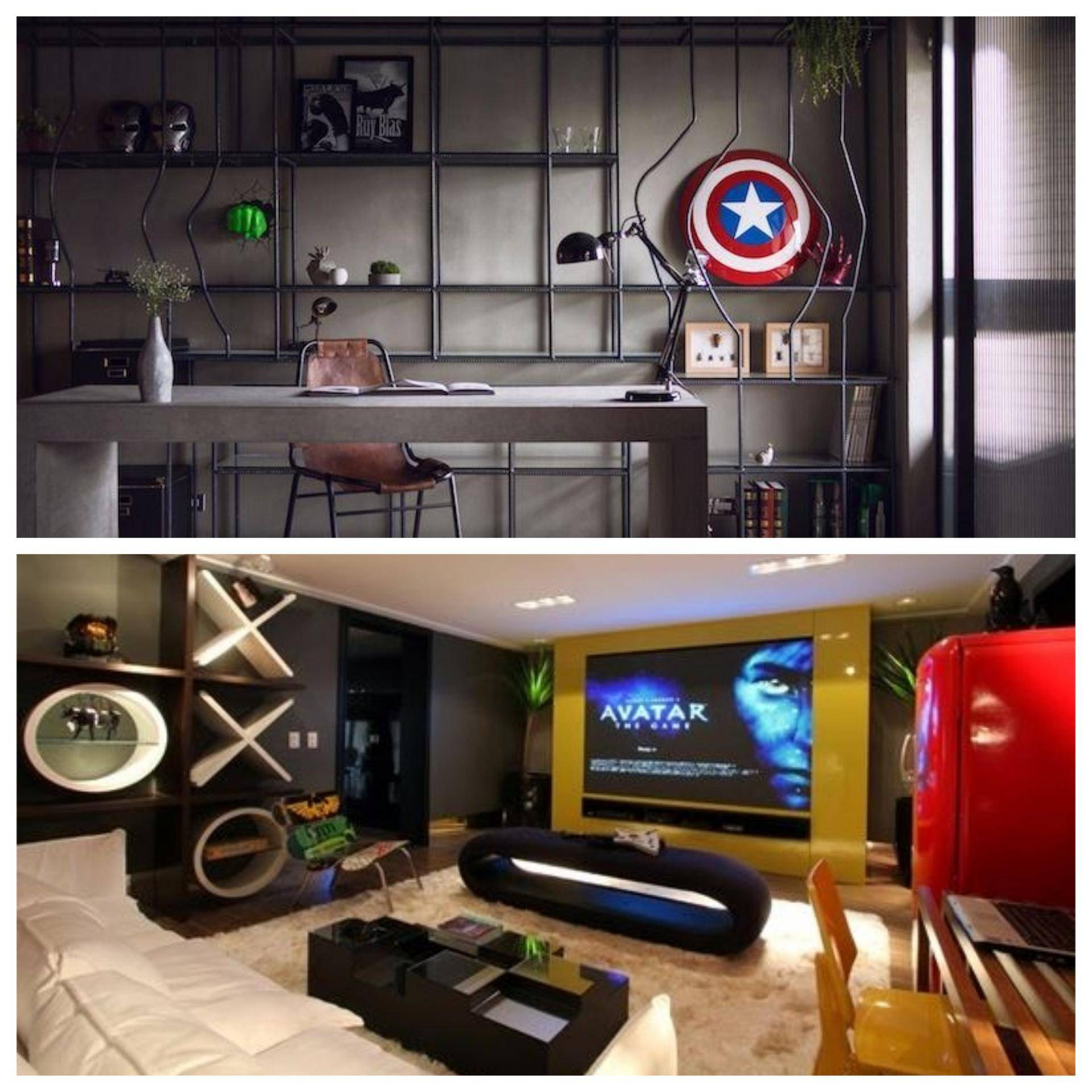 www.juicysantos.com.br - objetos nerds na decoração da casa