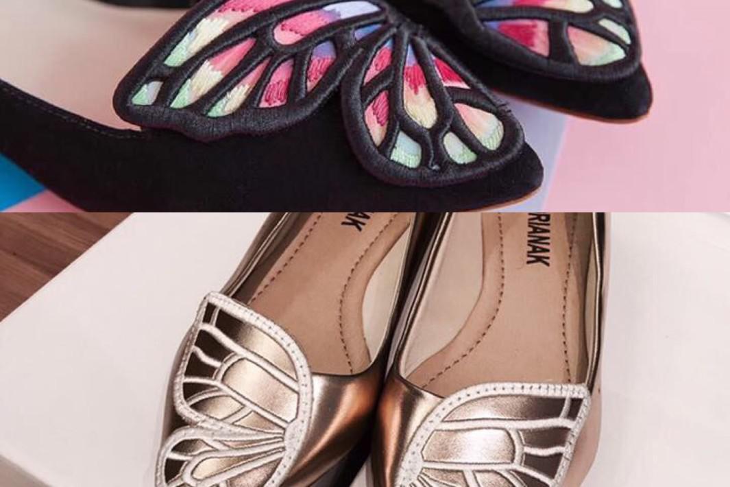 www.juicysantos.com.br - sapatilha de borboleta adrianak