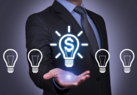 Futuristic Finance Idea Connection