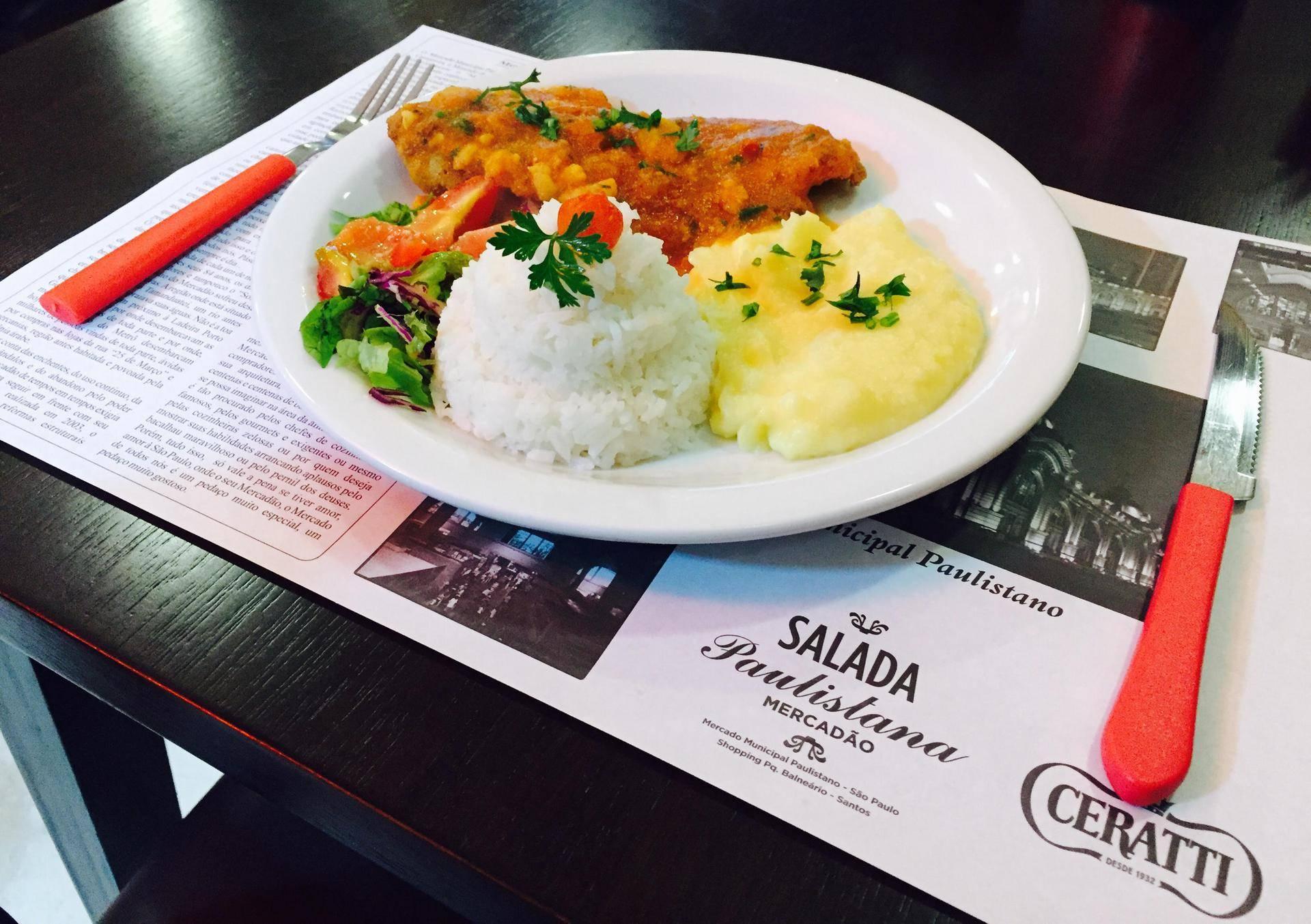 www.juicysantos.com.br - filé de pescada salada paulistana almoço executivo