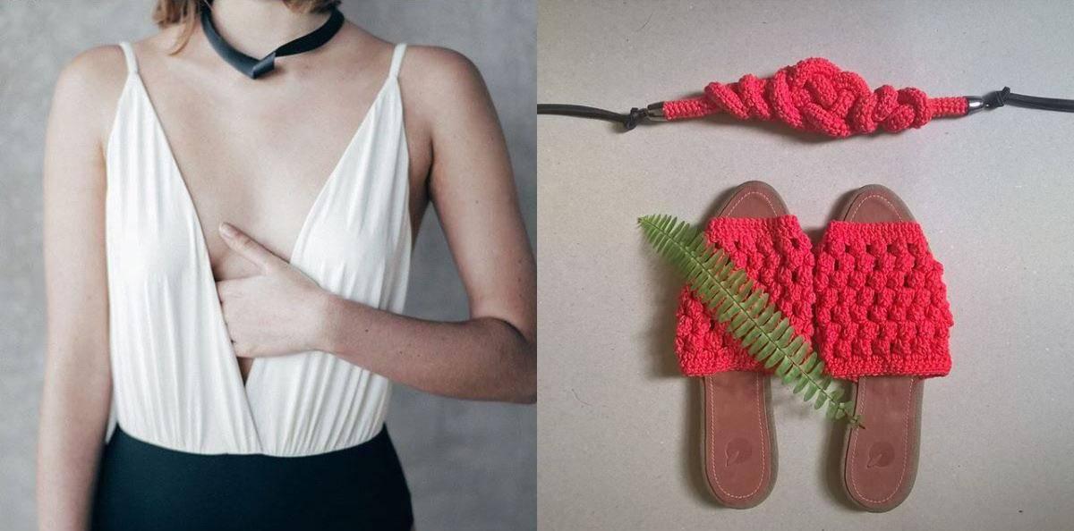 Maiô da Kora Swim e peças em crochê da Tangerina Moon