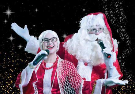 www.juicysantos.com.br - papai noel e mamãe noel no espetáculo casa de noel