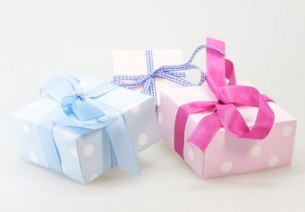 gifts-with-ribbons-on-white-background