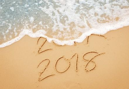 New Year 2017 replace 2016 on sea beach summer