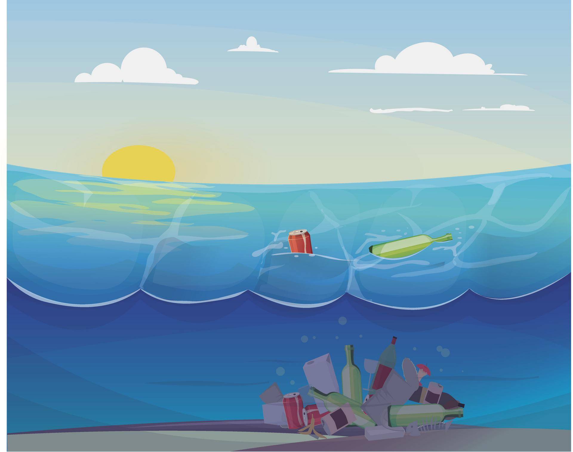Pollution problem in the ocean