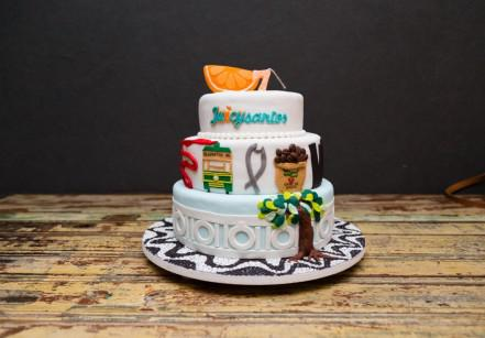 www.juicysantos.com.br - bolo de pasta americano homenageando a cidade de santos