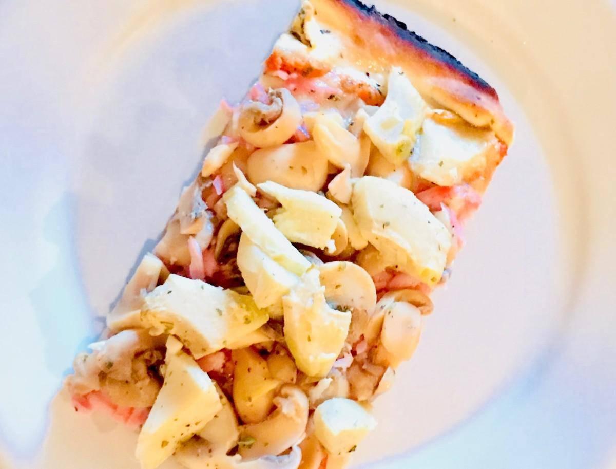 www.juicysantos.com.br - pizza vegetariana da graminha