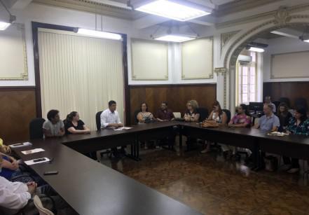 Reunião na Prefeitura Municipal de Santos