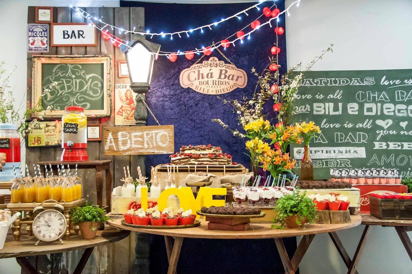 www.juicysantos.com.br - chá bar decoração