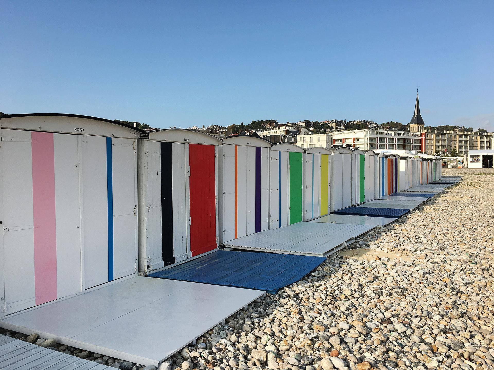 Cabines coloridas de Le Havre