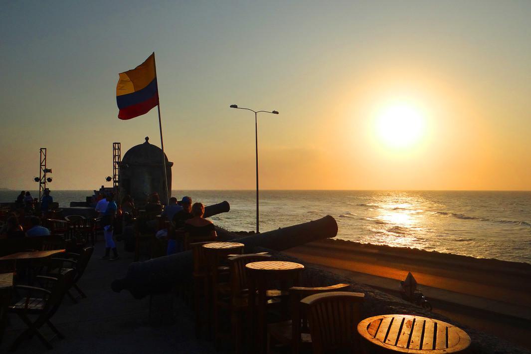 Por do Sol em Cartagena