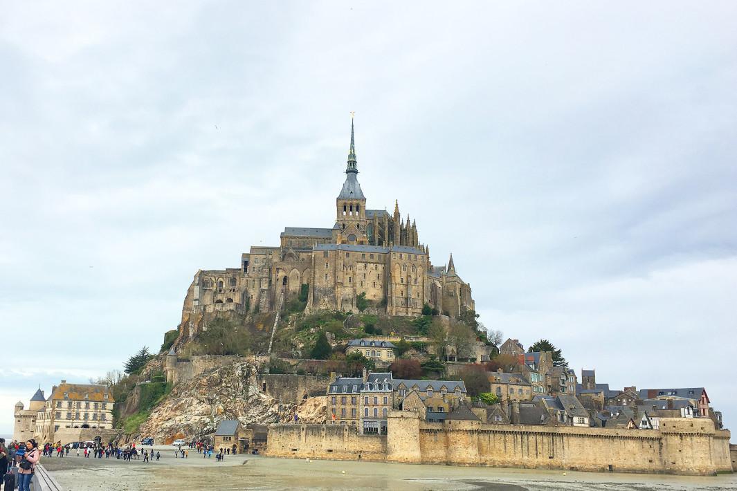 Chegada a Mont Saint Michel
