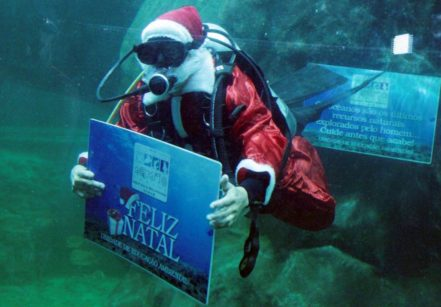 www.juicysantos.com.br - papai noel no aquário de santos