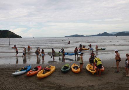 www.juicysantos.com.br - remada de verão na praia de santos