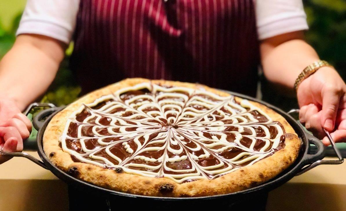 www.juicysantos.com.br - pizza de ganache de chocolate la buona cia pizzaria em santos
