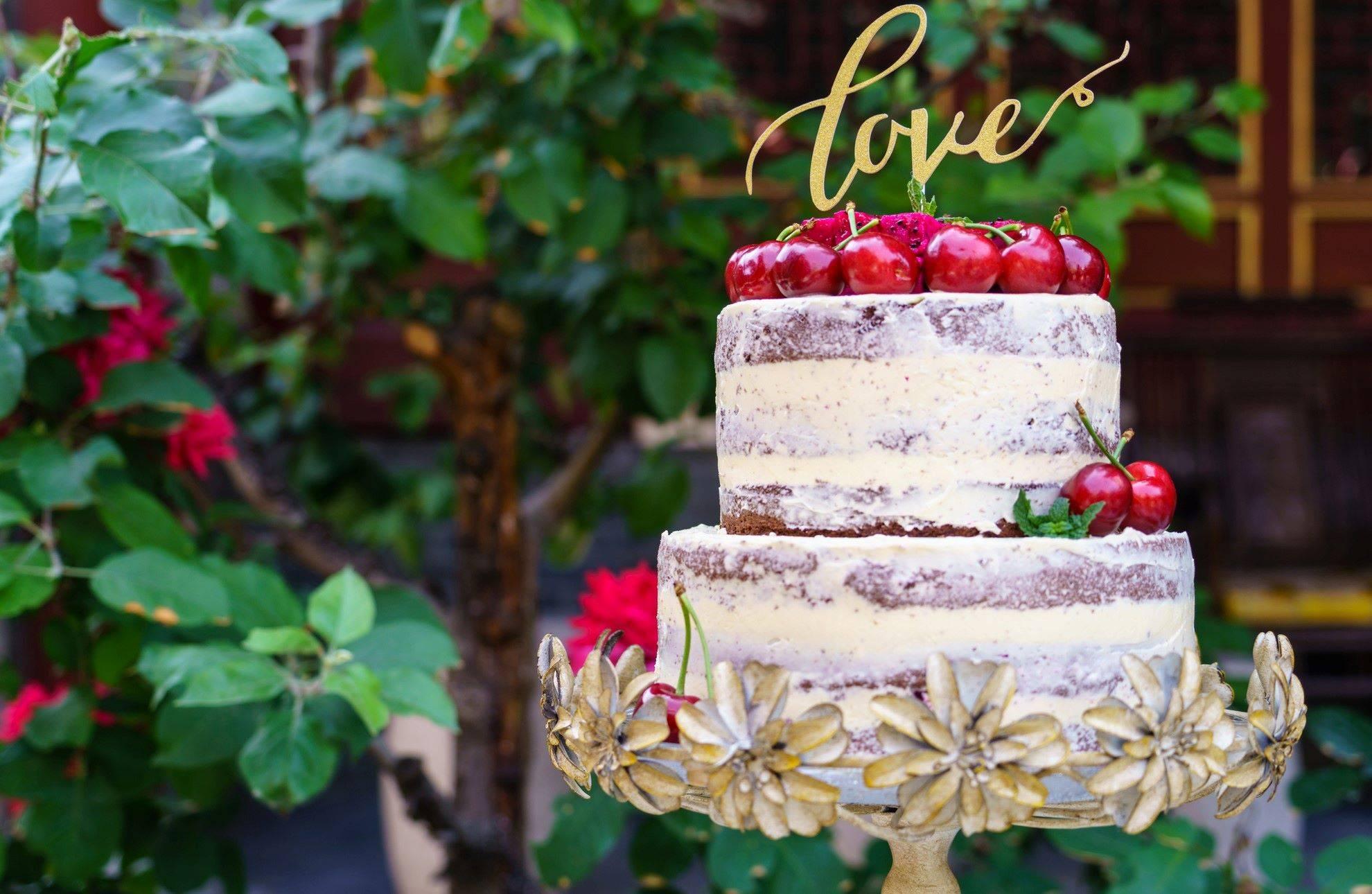 www.juicysantos.com.br - naked cake de casamento bolo de casamento