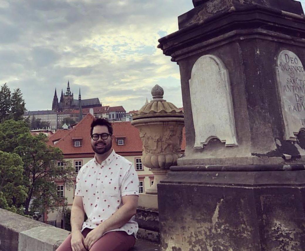 www.juicysantos.com.br- : eu na Ponte Carlos, em Praga