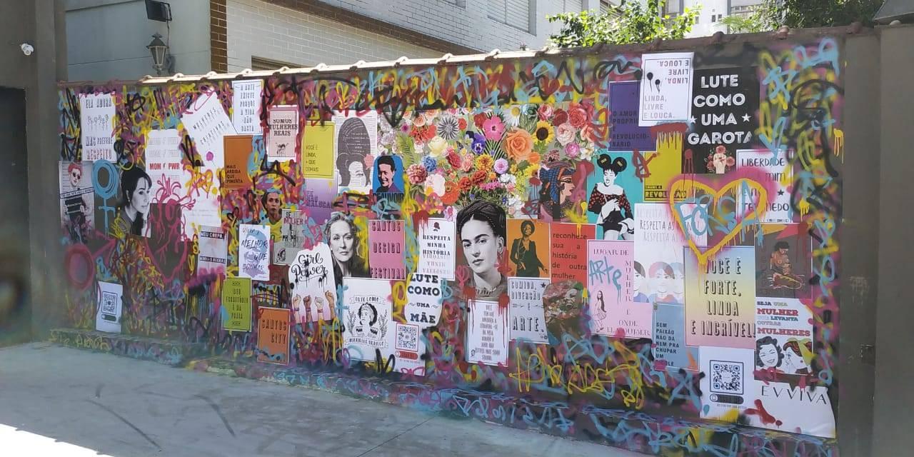 www.juicysantos.com.br - yanaina mella intervenção em muro no santos design festival