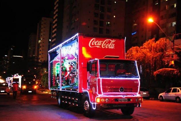 Caravana de natal da Coca-Cola em Santos e São Vicente