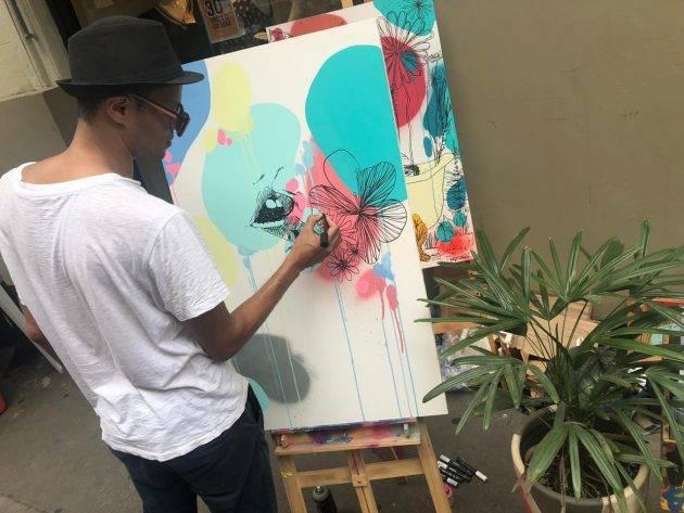 juicysantos.com.br - Villarejo Art na Rua no Centro Histórico