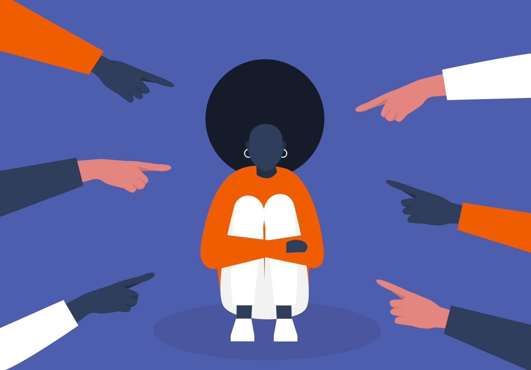 www.juicysantos.com.br - mulher negra sendo vítima de racismo