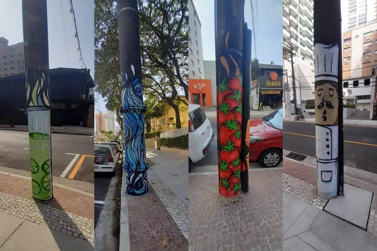 www.juicysantos.com.br - arte de rua em santos rua gastronômica rua tolentino filgueiras erico bomfim artista